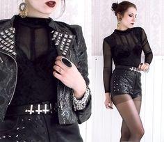 Romwe Jacket, Romwe Shorts, Urban Outfitters Belt, Earring, Bracelet   SHE LOVES THE NIGHT. (by Masha Sedgwick)   LOOKBOOK.nu