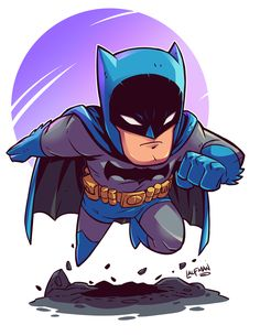"Chibi Batman Grab this 8.5x11"" print for only $8 @ dereklaufman.com #batman"
