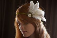 indian headband idea White Feather Blooming Band by robotjules on Etsy, $15.00 Indian Headband, White Feathers, Boho Hippie, Headbands, Bloom, Costumes, Crafty, Halloween, Womens Fashion