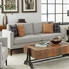 Carbon Loft Horncastle Light Grey and Black Cushion Back Sofa Tiny Living Rooms, Living Room Colors, Living Room Modern, Living Room Sofa, Home Living Room, Black Cushions, Seat Cushions, Couch Pillows, Light Gray Couch