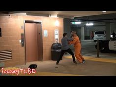 An awesomely funny prank by fouseytube! The escaped prisoner prank on YouTube