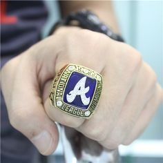 Custom 1999 Atlanta Braves National League Championship Ring - AL & NL Championship Rings - Customized