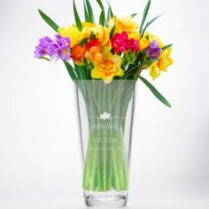 Personalised Swirl Heart Conical Vase