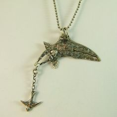 I can't stop Pinning this stuff!!!  Sabria Dives Into Life  Art Jewelry Pendant  by robinwade on Etsy, $92.00
