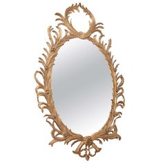 French Gilt Mirror, 20th Century | From a unique collection of antique and modern wall mirrors at http://www.1stdibs.com/furniture/mirrors/wall-mirrors/