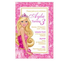 Barbie Birthday Invitation PRINTABLE PDF by DIYPartiesByRenee