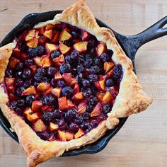 Cast-Iron Blueberry and Nectrarine Galette By Ree Drummond