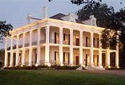 Dunleith Plantation, Natchez Ms., this house is  completely encircled with colonnade, circa 1856