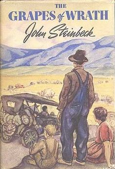 The Grapes of Wrath (1939). John Steinbeck. Cover artist Elmer Hader. The Viking Press-James Lloyd. First edition. Original dust jacket.