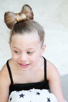 Minnie Mouse Hair Style via Lilyshop Blog by Jessie Jane