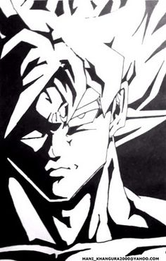 Love Dragon Ball Z ? Here's a sketch of Goku from the series.   ( Marker on White Sheet )