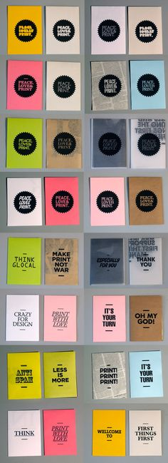 Peace, Love & Print by Carlos Bermúdez, via Behance