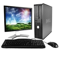 Dell Optiplex 755 Intel Core 2 Duo 2300MHz 400Gig Serial ATA HDD 8192mb DDR2 Memory DVD ROM Genuine Windows 7 Professional 64 Bit  19 Flat Panel LCD Monitor Desktop PC Computer *** Find out more about the great product at the image link.