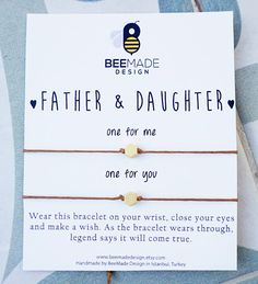 Father and Daughter Wish Bracelets for 2 Fathers Day from
