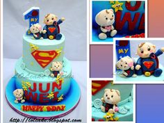 Are these babies cute? Superman Cakes, Birthday Cake, Babies, Desserts, Food, Tailgate Desserts, Babys, Deserts, Birthday Cakes