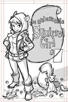 """gurihiru: """"Cover art for Women of Marvel. My variant for """"Unbeatable Squirrel Girl """" Marvel Girls, Marvel Art, Marvel Heroes, Marvel Characters, Female Characters, Marvel Comics, Character Drawing, Comic Character, Character Design"""