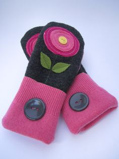 Pretty in Pink  Upcycled felted wool sweater by WoollyEncores, $30.00