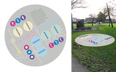 Hove Park-An installation of familiar, equipment-free games, following consultation with local schoolchildren. Those who embark on the game trail with an element of riddle-solving are then prompted to consider the history of the space and its value to the community and park visitors