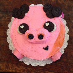 """Vivi asked me to make a Chuy cake (from Book of Life.) I'm SO HAPPY WITH HOW IT CAME OUT!! #chuy #bookoflife #cake #pig"""