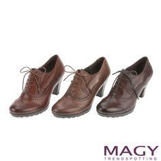 $2480-MAGY 英倫學院風 牛津花邊綁帶粗跟踝靴-可可 - Yahoo!奇摩購物中心(可缺40/45/70-80.棕缺40/45.65-80.咖缺40/70-80)