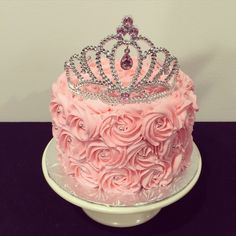 Pink princess cake with tiara from Sweet Treats by Lara                                                                                                                                                     More