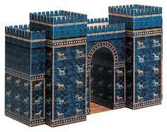Ishtar Gate paper model.