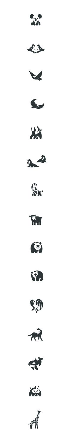 Negative space animals pt.3 #negative #space #logo #animals #marks #design…