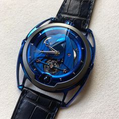 """1,173 Likes, 11 Comments - De Bethune (@de_bethune) on Instagram: """"#sihh2018 and a new addition to the #DB28 """"Kind of Blue"""" family. The characteristic heat blued…"""""""