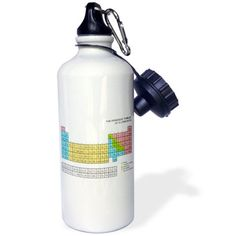 3dRose Pastel Periodic Table - Academic school educational gift for science chemistry physics classrooms , Sports Water Bottle, 21oz