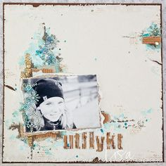 Mixed Media Layout – Utflykt » Lisa aka InkyWings