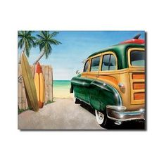 """Retro Auto - Beach Woody Tin Sign 16""""W x 12.5""""H , 16x13 by Poster Revolution. $8.99. Tin Sign Title: Retro Auto - Beach Woody Tin Sign 16""""W x 12.5""""H. Size: 16 x 13 inches. The tin sign is just one the hundreds of high-quality wall décor products offered to help you decorate in your own unique style. Items like Retro Auto - Beach Woody Tin Sign 16""""W x 12.5""""H enhance any interior and match your budget and style!. Save 25% Off!"""