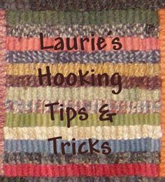 Link to my Picturetrail Album with notes from rug hooking classes I offer... - Crafting Now