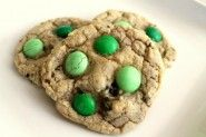 Making this weekend for St. Patricks party!  Mint MM Oreo Cookies.