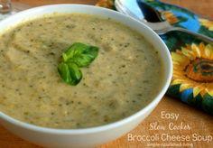 Crock Pot Broccoli Cheese Soup | Weight Watchers Friendly Recipes #WeightWatchers #CrockPot