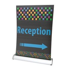 Our A3 mini desktop roller banners is a little stand with big impact. Perfect for any counter top this small pull up banner is supplied with a full colour graphic panel in A3 size in a smart silver roller mechanism.