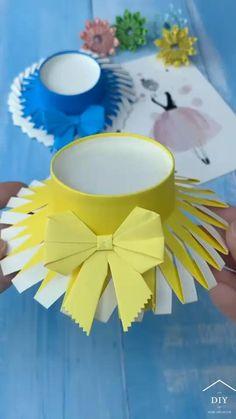 Diy Crafts Hacks, Diy Crafts For Gifts, Diy Arts And Crafts, Diy Crafts Videos, Creative Crafts, Decor Crafts, Fun Crafts, Paper Crafts Origami, Paper Crafts For Kids