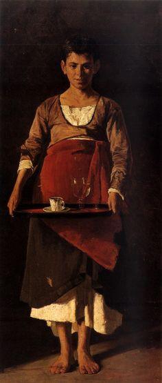 Georgios Roilos, Greek painter 1867-1927 -the Servant