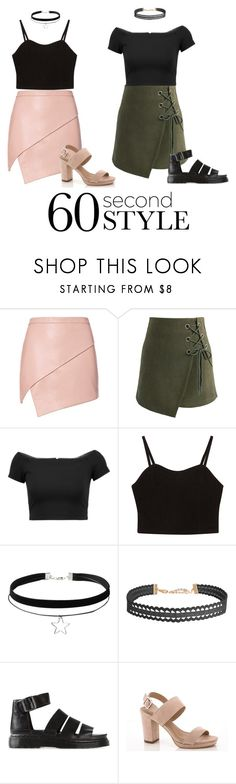 """""""2 ways to wear"""" by ilikefashionalittls ❤ liked on Polyvore featuring Michelle Mason, Chicwish, Alice + Olivia, Humble Chic, Dr. Martens, Lady Godiva, asymmetricskirts and 60secondstyle"""
