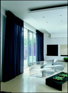 contemporary curtains for living room. It is about Contemporary Curtain  Depiction of Interior with Sheer for Undisguised Outdoor