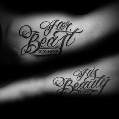 Italian love quotes love quotes for her tattoos her beast his beauty quote script creative tattoo Tattoos Skull, Tribal Tattoos, Ring Tattoos, Flower Tattoos, Trendy Tattoos, Tattoos For Women, Tattoos For Couples, Popular Tattoos, Her Beast His Beauty