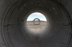 Nancy Holt's Sun Tunnels.