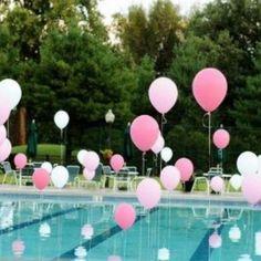 piscina decorada con globos - Buscar con Google