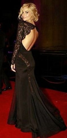 samara weaving black lace dress. Gorgeous!!!!! Makes me wish I had an lack tie event soon :)