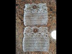 Crochet easy beautiful boot cuffs DIY tutorial - YouTube