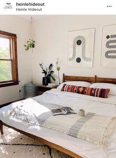 Modern Southwest Decor, Southwest Bedroom, Boudoir, Mid Century Modern Bedroom, Modern Bedroom Furniture, Modern Bedding, Home Bedroom, West Elm Bedroom, Bungalow Bedroom