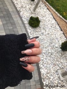 Black Acrylic Nails, Simple Acrylic Nails, Best Acrylic Nails, Edgy Nails, Stylish Nails, Swag Nails, Gorgeous Nails, Pretty Nails, Nagellack Trends