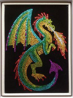Sequin Art dragon