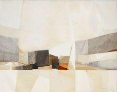 Artist: Kenzo Okada, Japanese/American (1902 - 1982) Title: Untitled Year: circa 1970 Medium: Collage on Canvas, signed
