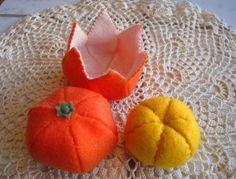 Felt Food ~ Tangerine