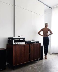 Vinyl Record Storage, Audio Room, Vintage Vinyl Records, Audiophile, Architecture, Classy, Interior Design, Beautiful, Instagram